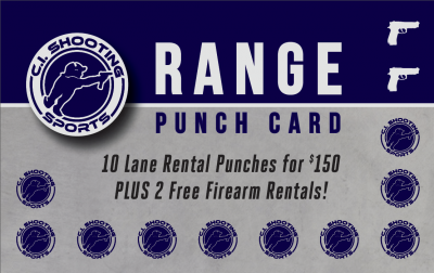 Example range shooting rewards card